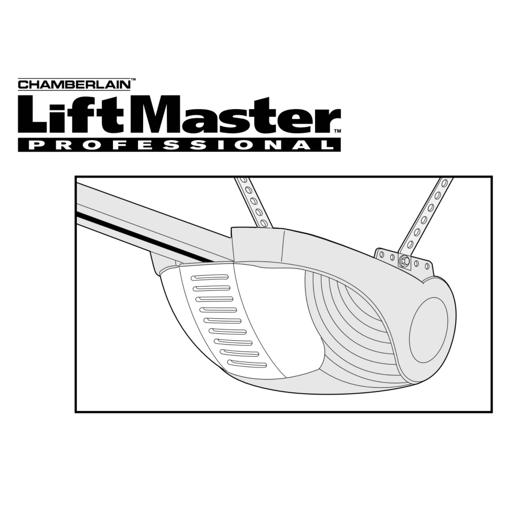 Instruksjoner for portåpner Liftmaster 1000
