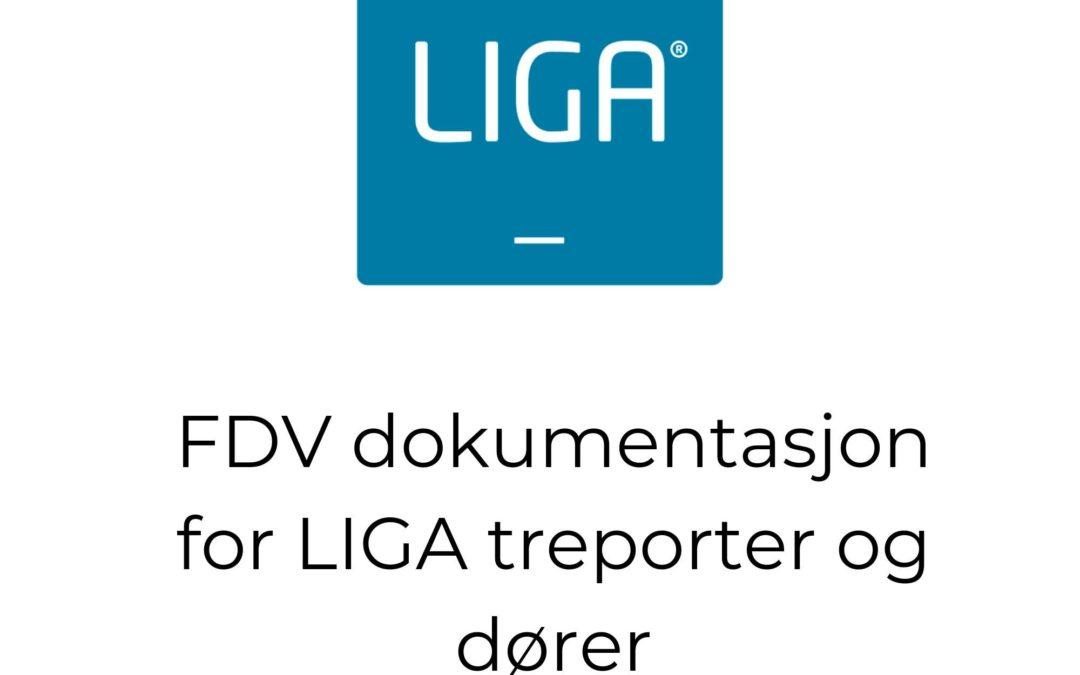 FDV dokumentasjon for LIGA treporter og dører