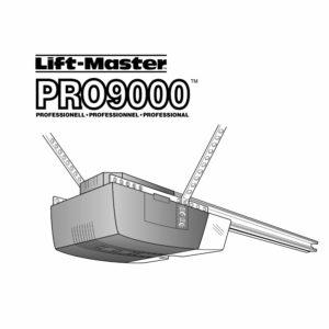 Instruksjonsmanual for Liftmaster Pro9000