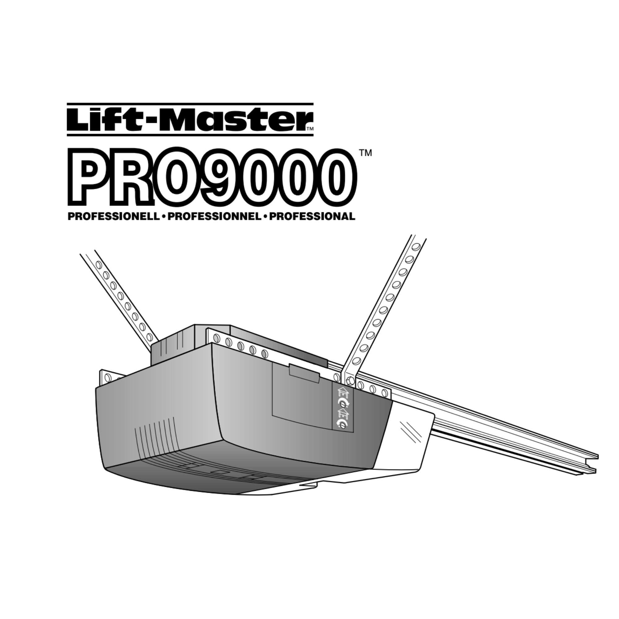 Instruksjonsmanual for portåpner PRO9000