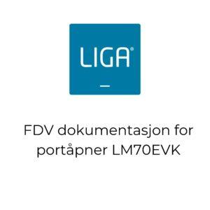 thumbnail - FDV dokumentasjon for portåpner LM70EVK