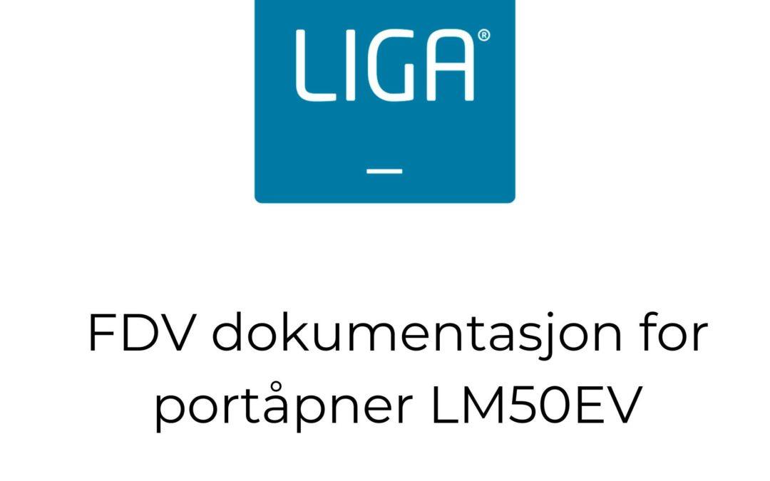 FDV dokumentasjon for portåpner LM50EV