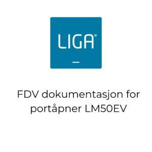 thumbnail - FDV dokumentasjon for portåpner modell LM50EV