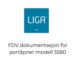 FDV dokumentasjon for portåpner modell 5580
