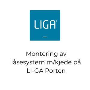 Montering av låsesystem m/kjede på LI-GA Porten . thumbnail