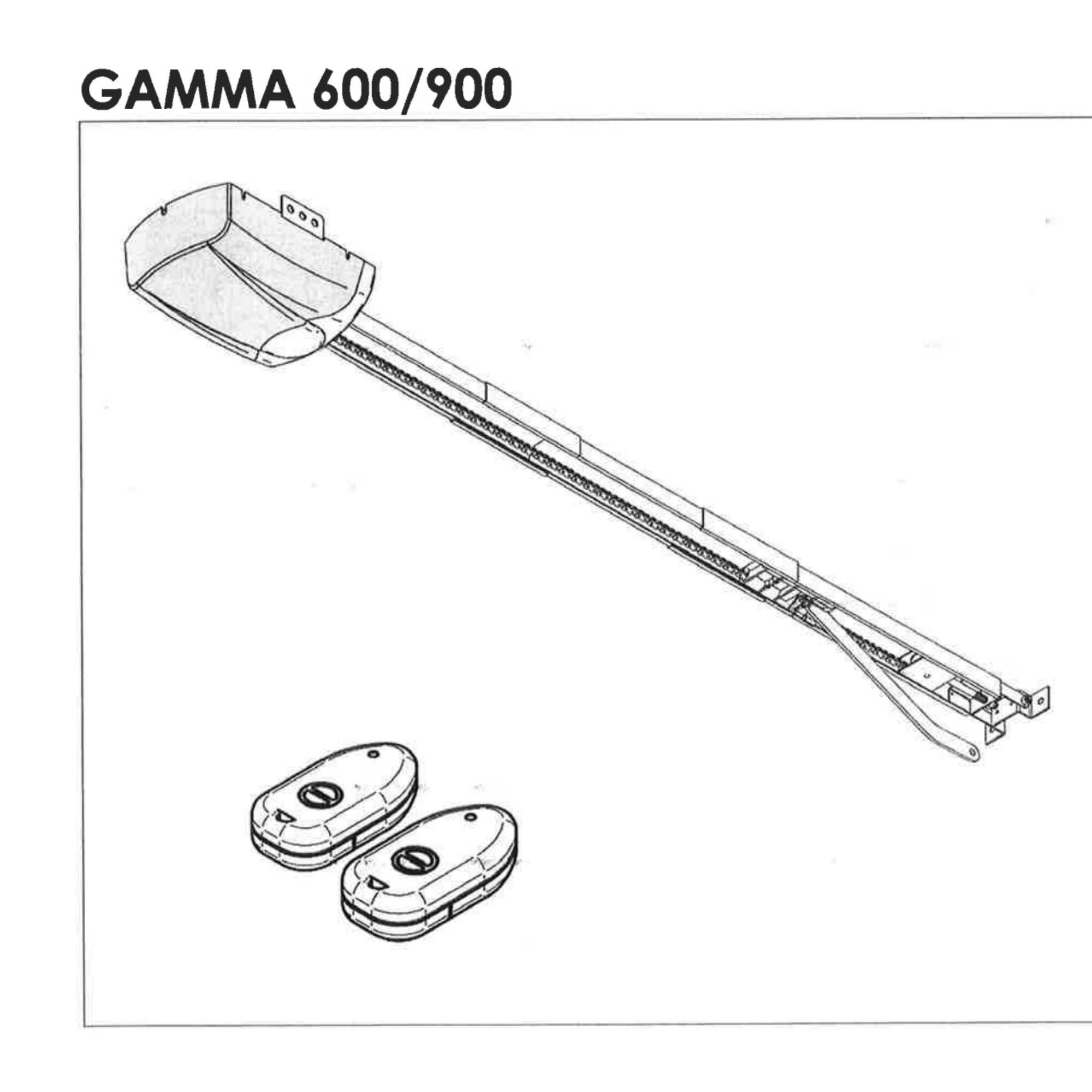 Monteringsanvisning til portåpner Gamma 600/900