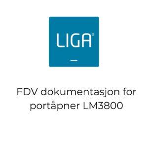 FDV dokumentasjon for portåpner LM3800 - thumbnail
