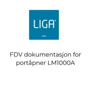 thumbnail - FDV dokumentasjon for portåpner LM1000A