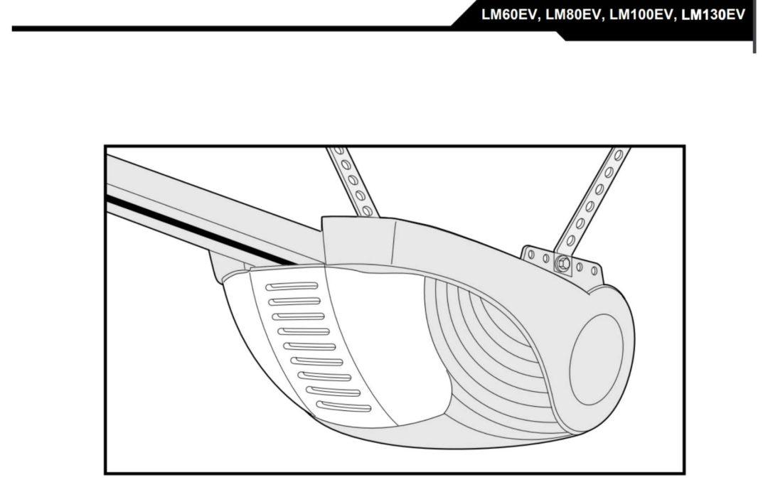 Montering og bruksanvisning for portåpner LM60, LM80, LM100 og LM130