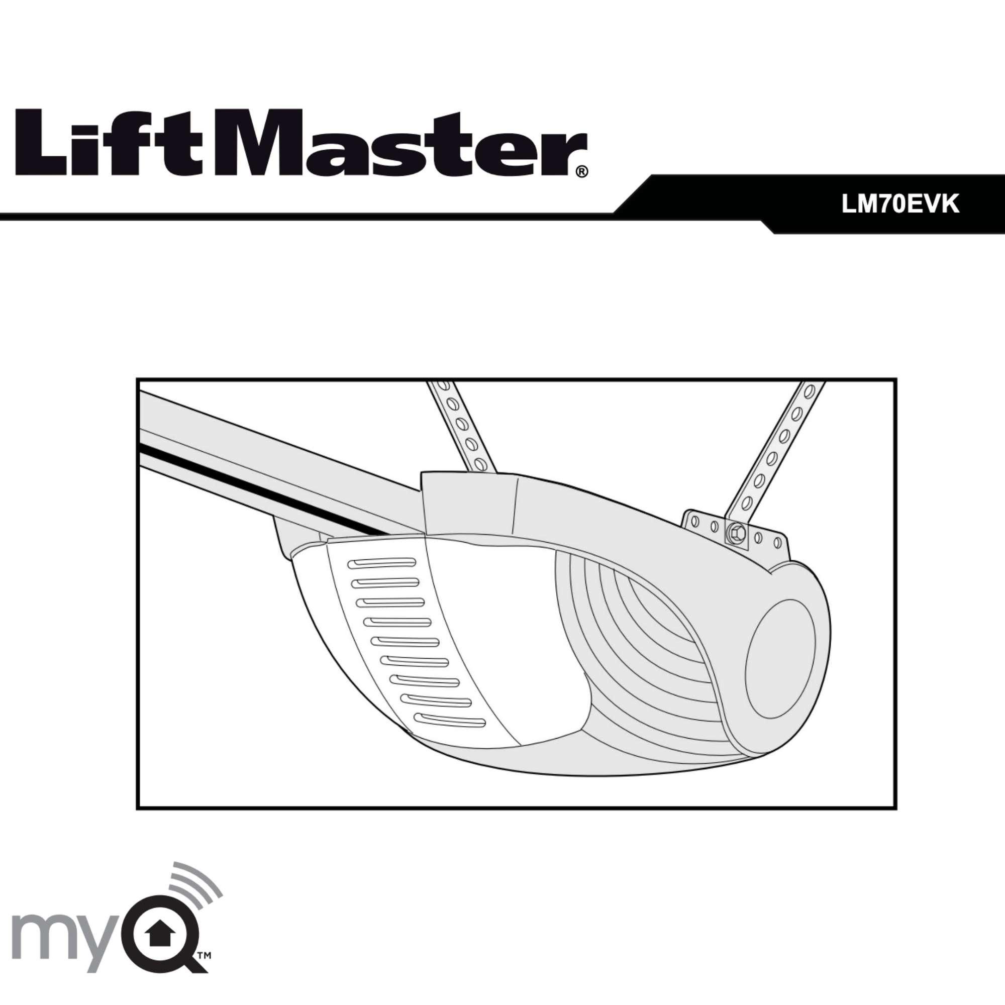Montering og bruksanvisning for portåpner LM70EVK
