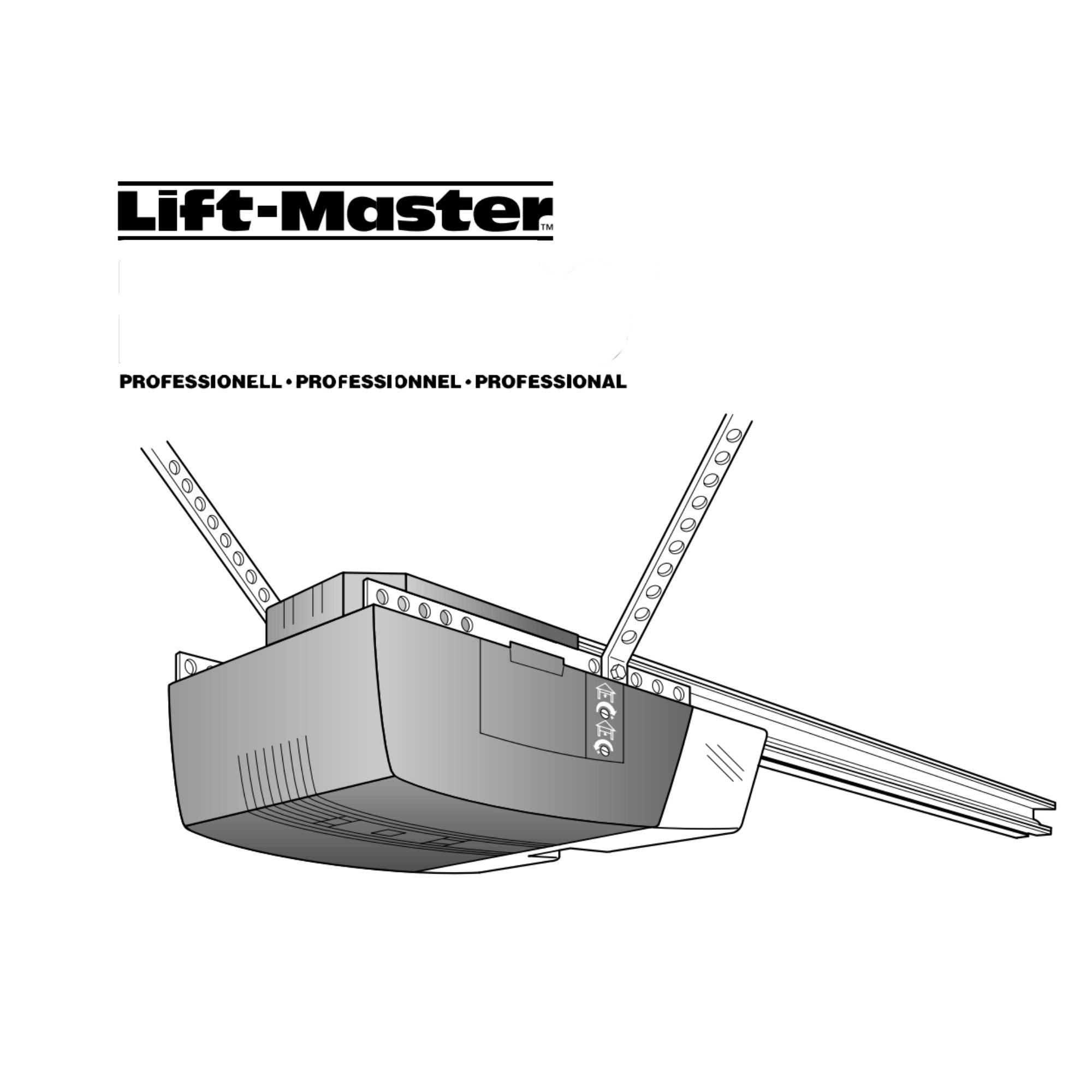 Instruksjonsmanual for portåpner PRO8000