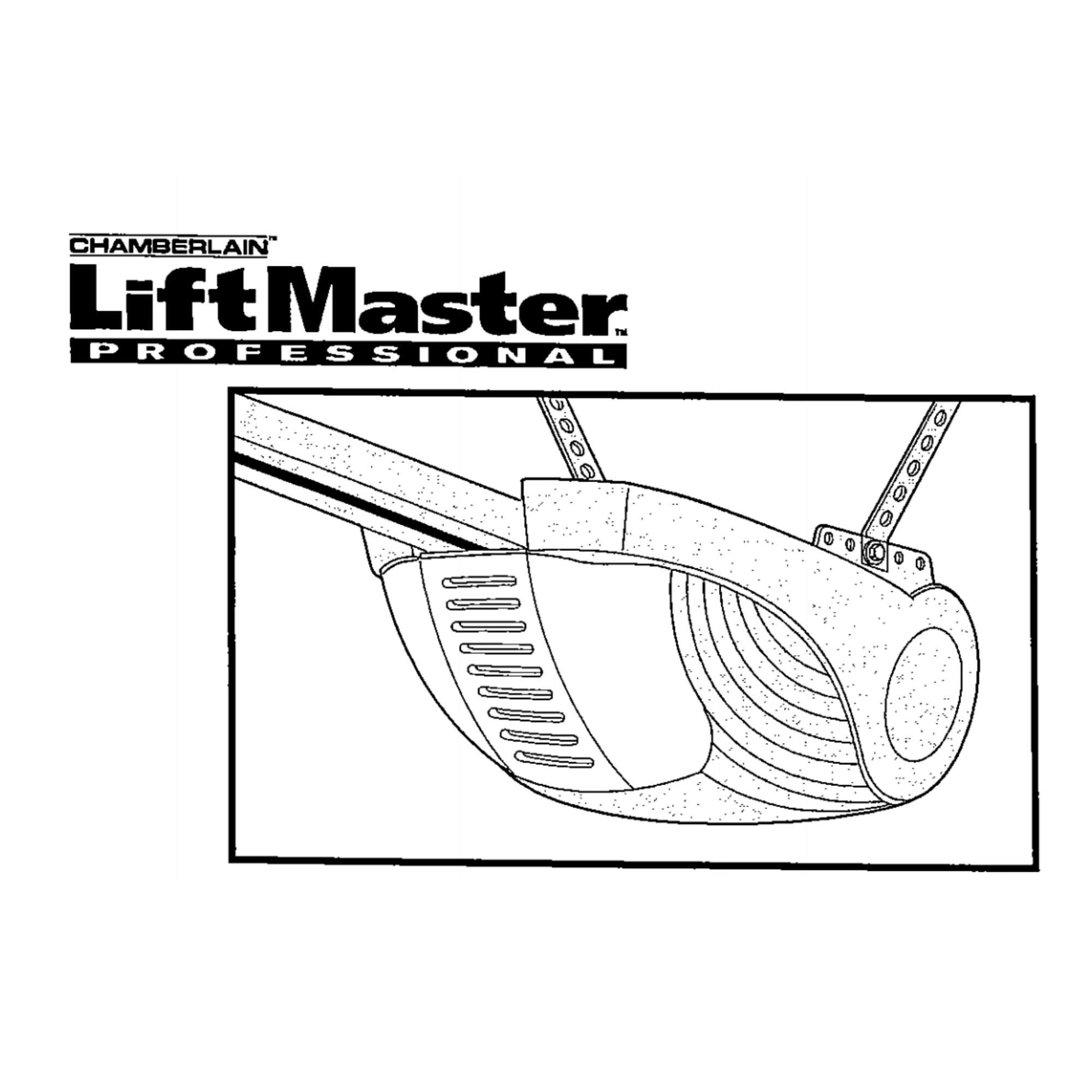 Instruksjoner for portåpner Liftmaster 1000A