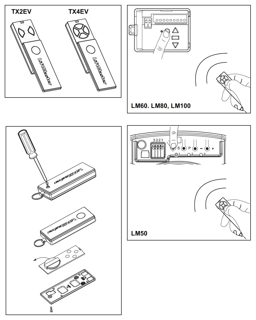 LiftMaster Remote Control TX4ev