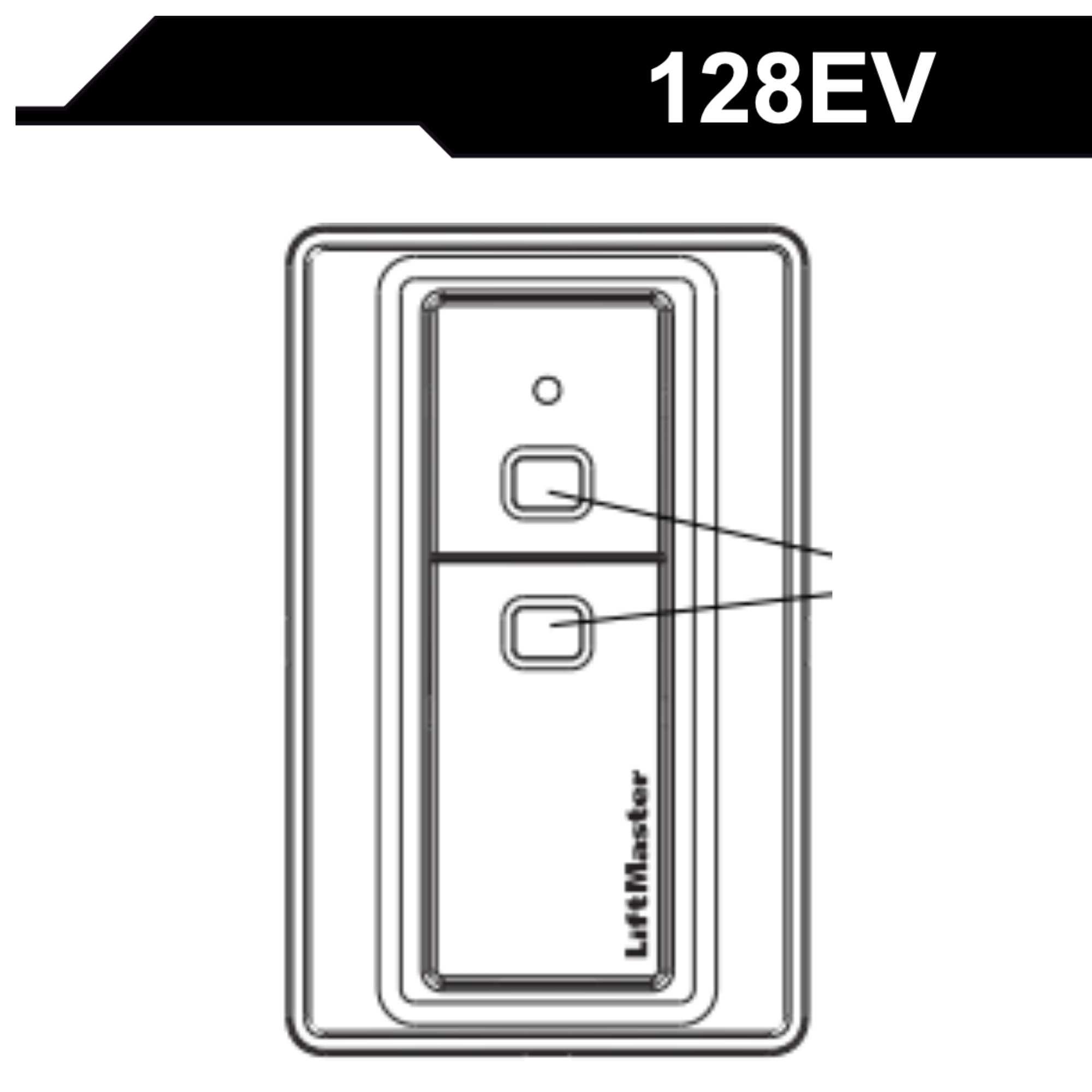 Manual 128EV fjernstyring i vegg