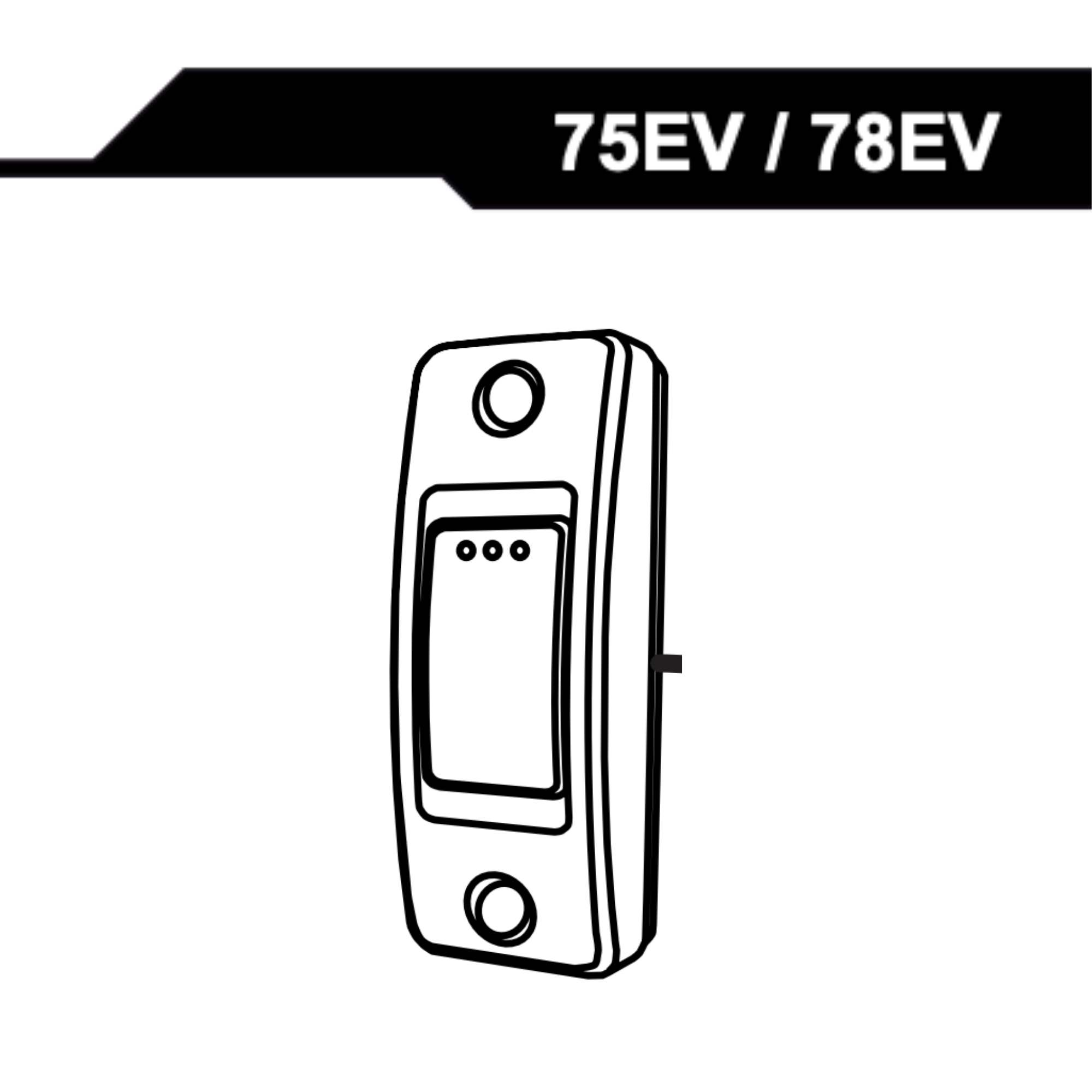 Manual for 75EV/78EV veggbryter