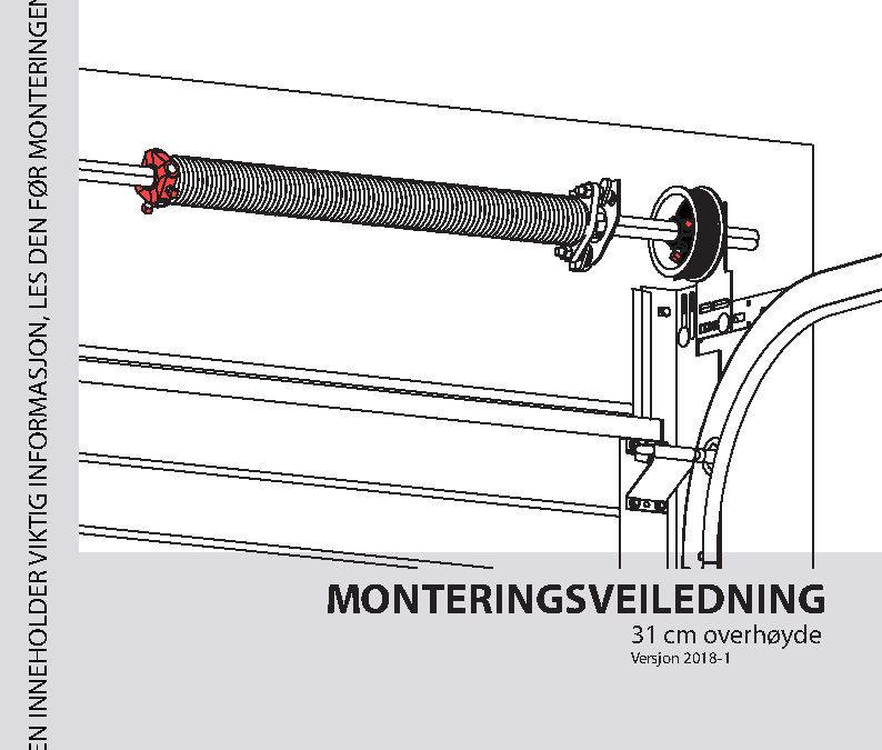 Monteringsveiledning 31cm overhøyde
