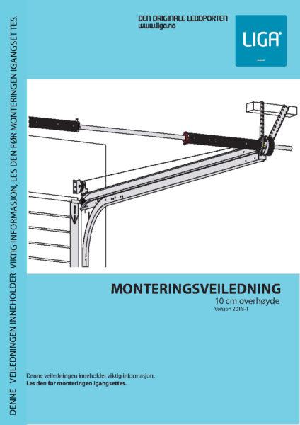 Forside monteringsveiledning 10 cm overhøyde versjon 2018-1